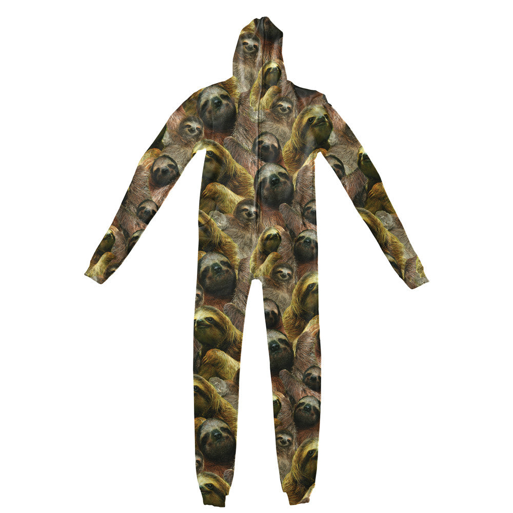 Sloth Invasion Adult Jumpsuit-Shelfies-| All-Over-Print Everywhere - Designed to Make You Smile
