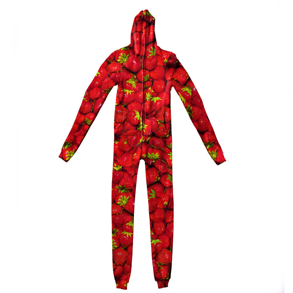 Strawberry Invasion Adult Jumpsuit-Shelfies-| All-Over-Print Everywhere - Designed to Make You Smile