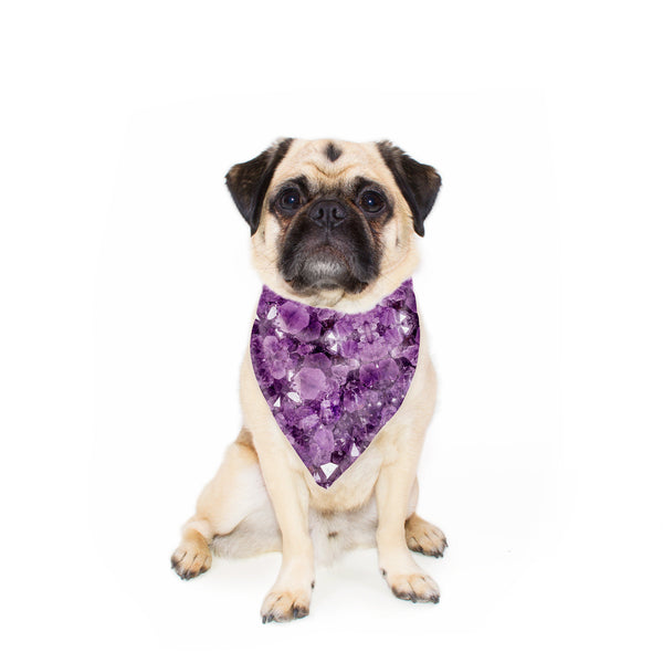 Amethyst Pet Bandana-Gooten-24x24 inch-| All-Over-Print Everywhere - Designed to Make You Smile