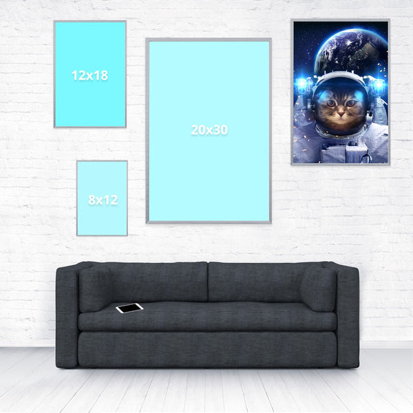 Astronaut Cat Poster-Shelfies-16 x 24-| All-Over-Print Everywhere - Designed to Make You Smile