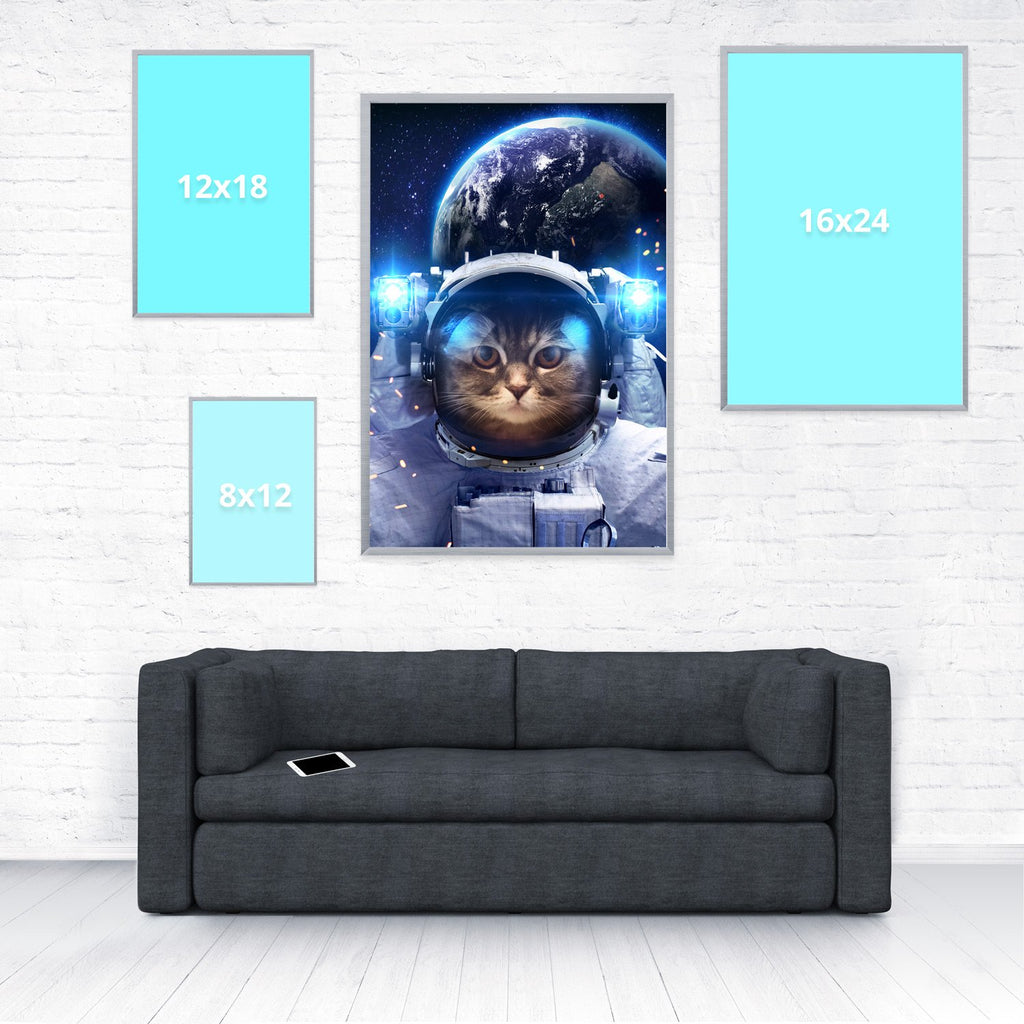 Astronaut Cat Poster-Shelfies-20 x 30-| All-Over-Print Everywhere - Designed to Make You Smile