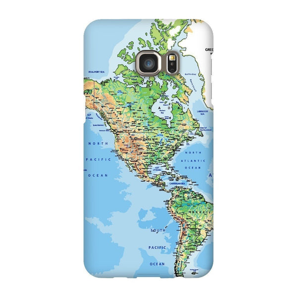 World Map The Americas Smartphone Case-Gooten-Samsung S6 Edge Plus-| All-Over-Print Everywhere - Designed to Make You Smile