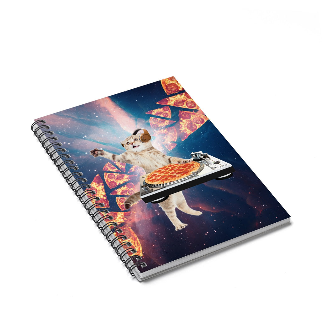 DJ Pizza Cat Spiral Notebook-Printify-Spiral Notebook-| All-Over-Print Everywhere - Designed to Make You Smile