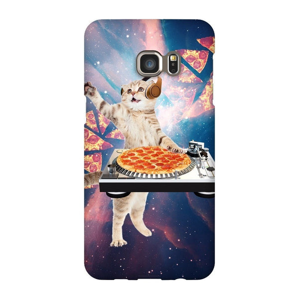 DJ Pizza Cat Smartphone Case-Gooten-Samsung Galaxy S6 Edge Plus-| All-Over-Print Everywhere - Designed to Make You Smile