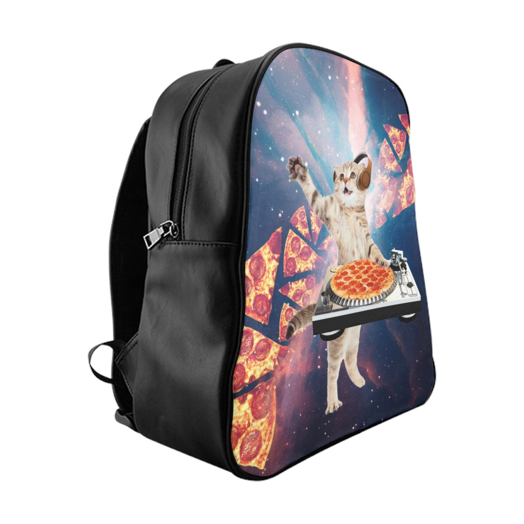 DJ Pizza Cat Backpack-Printify-Large-| All-Over-Print Everywhere - Designed to Make You Smile