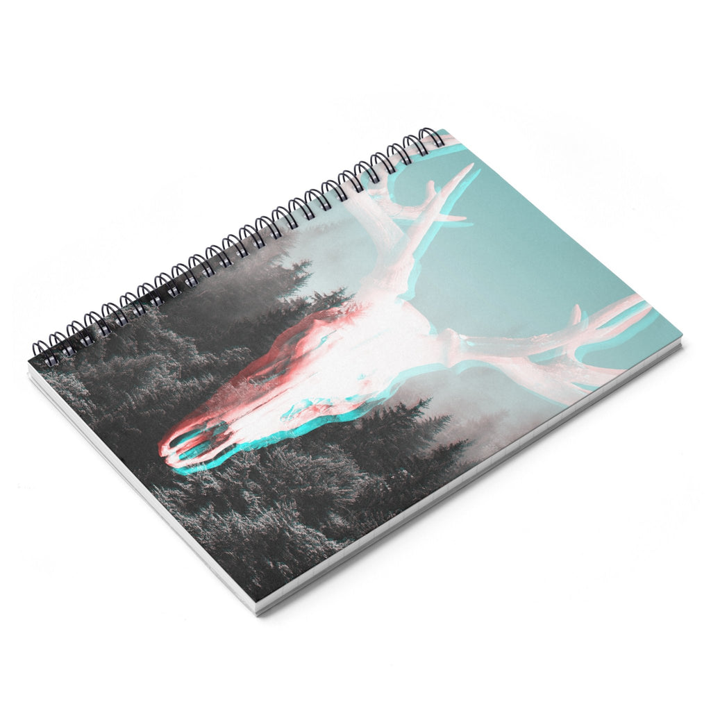 Deer Skull Spiral Notebook-Printify-Spiral Notebook-| All-Over-Print Everywhere - Designed to Make You Smile