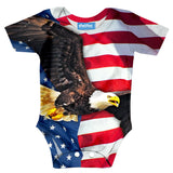 American Flag Baby Onesie-Shelfies-| All-Over-Print Everywhere - Designed to Make You Smile
