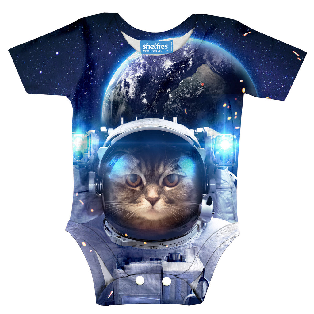 Astronaut Cat Baby Onesie-Shelfies-| All-Over-Print Everywhere - Designed to Make You Smile