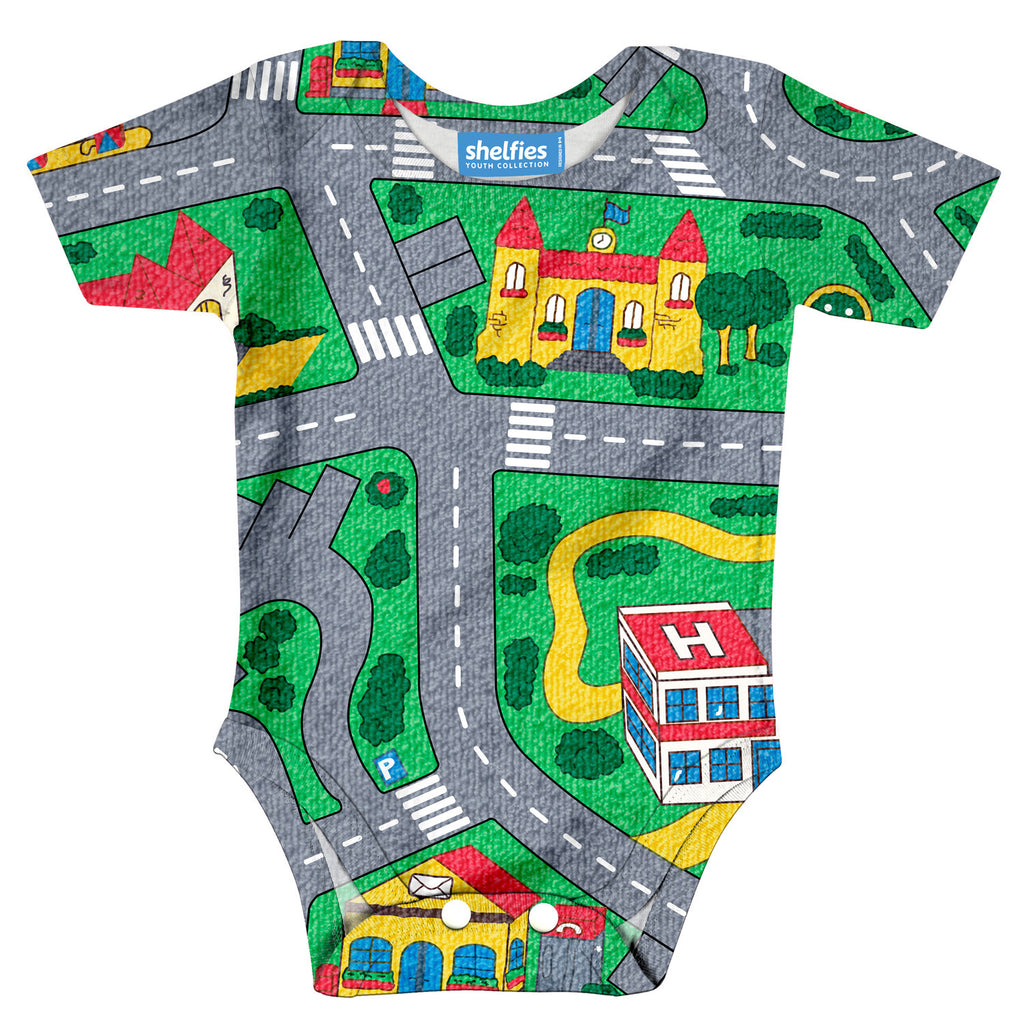 Carpet Track Baby Onesie-Shelfies-| All-Over-Print Everywhere - Designed to Make You Smile