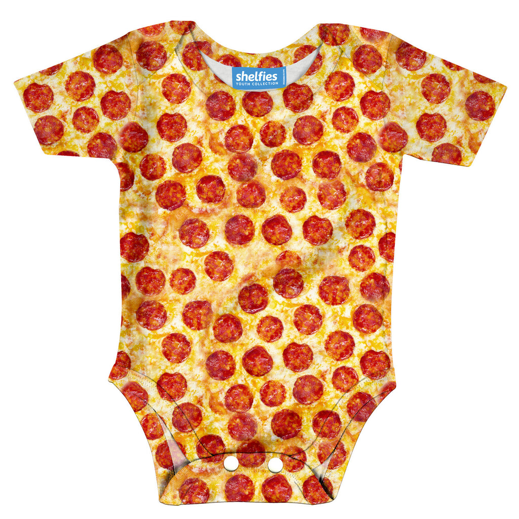 Pizza Invasion Baby Onesie-Shelfies-| All-Over-Print Everywhere - Designed to Make You Smile