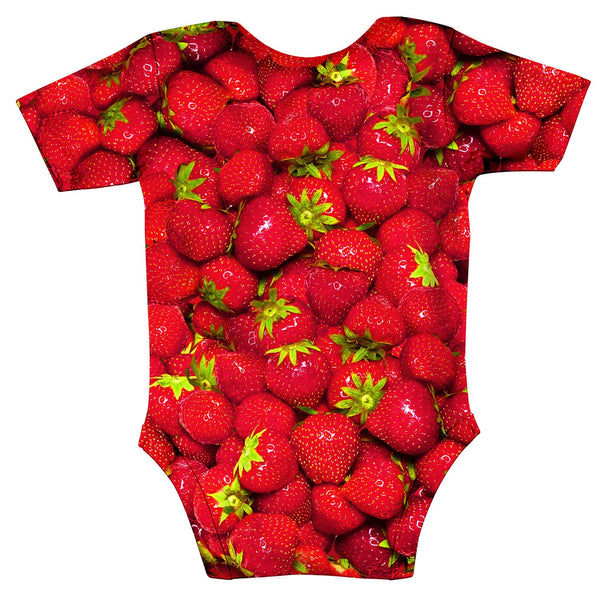 Strawberry Invasion Baby Onesie-Shelfies-| All-Over-Print Everywhere - Designed to Make You Smile