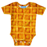 Waffle Invasion Baby Onesie-Shelfies-| All-Over-Print Everywhere - Designed to Make You Smile
