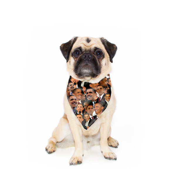 Barack Obama Face Pet Bandana-Gooten-24x24 inch-| All-Over-Print Everywhere - Designed to Make You Smile