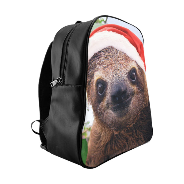 Christmas Sloth Backpack-Printify-Large-| All-Over-Print Everywhere - Designed to Make You Smile