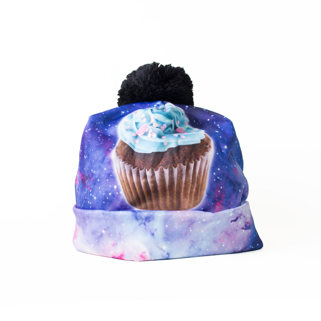 Cupcake Nebula Beanie Hat-Shelfies-| All-Over-Print Everywhere - Designed to Make You Smile