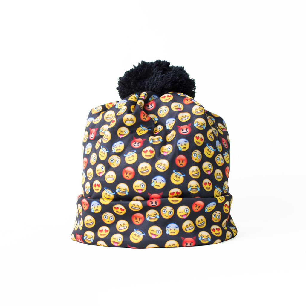 Emoji Invasion Beanie Hat-Shelfies-One Size-| All-Over-Print Everywhere - Designed to Make You Smile