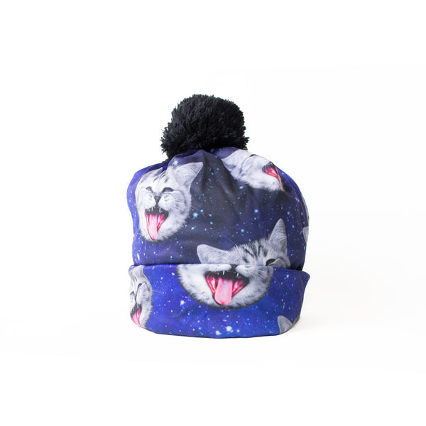 Beanie Hats - Galaxy Cat Heads Beanie Hat