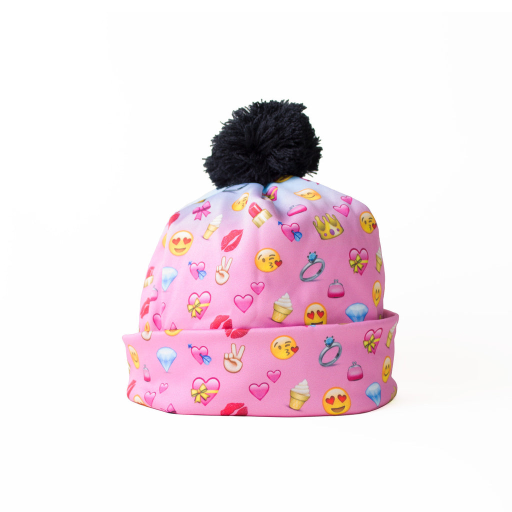 Girly Emojis Beanie Hat-Shelfies-One Size-| All-Over-Print Everywhere - Designed to Make You Smile