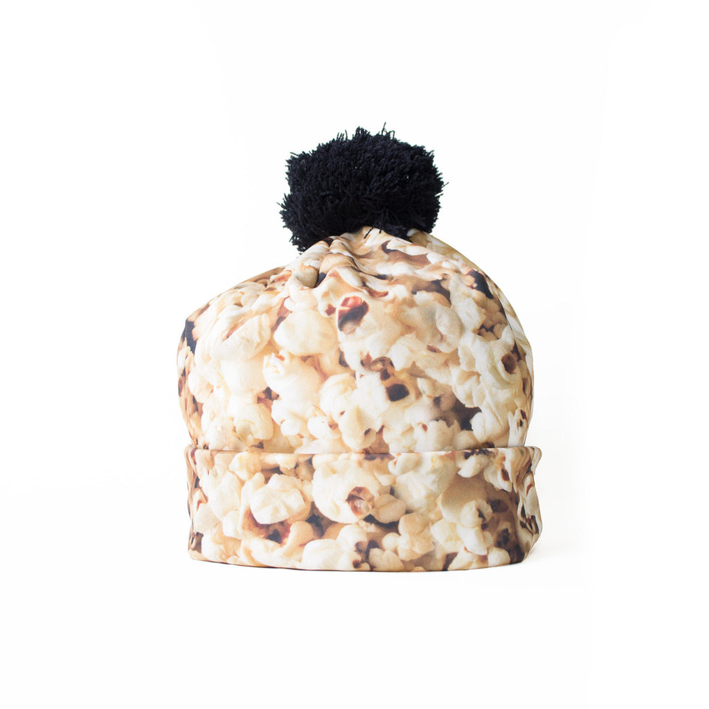 Popcorn Invasion Beanie Hat-Shelfies-One Size-| All-Over-Print Everywhere - Designed to Make You Smile