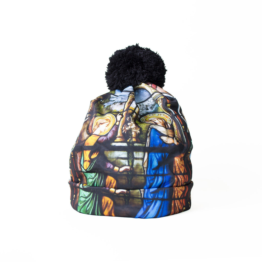 Stained Glass Beanie Hat-Shelfies-One Size-| All-Over-Print Everywhere - Designed to Make You Smile