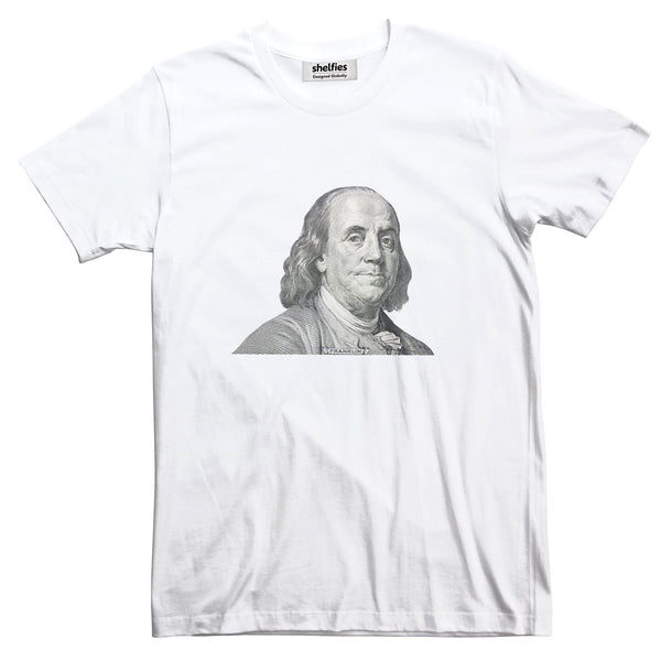 Benjamin Franklin Basic T-Shirt-Printify-White-S-| All-Over-Print Everywhere - Designed to Make You Smile
