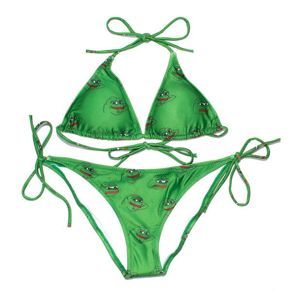 Pepe Bikini-Shelfies-Top - Small-Bottom - Small-| All-Over-Print Everywhere - Designed to Make You Smile