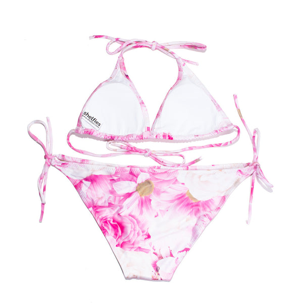 Pink Roses Bikini-Shelfies-| All-Over-Print Everywhere - Designed to Make You Smile
