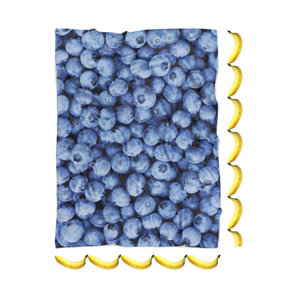 Blueberry Invasion Blanket-Gooten-| All-Over-Print Everywhere - Designed to Make You Smile