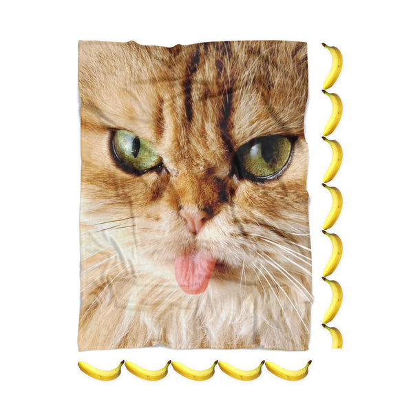 "Cat ""Pussy Face"" Blanket-Gooten-