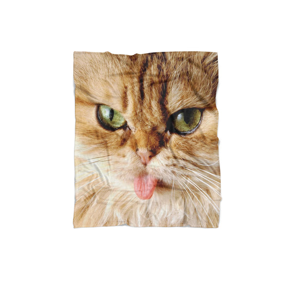 "Cat ""Pussy Face"" Blanket-Gooten-Regular-