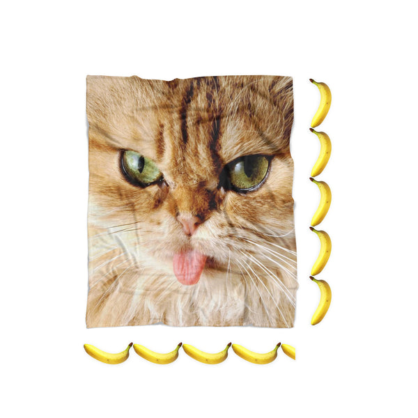 "Blankets - Cat ""Pussy Face"" Blanket"