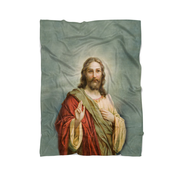 Holy Jesus Blanket-Gooten-Cuddle-| All-Over-Print Everywhere - Designed to Make You Smile