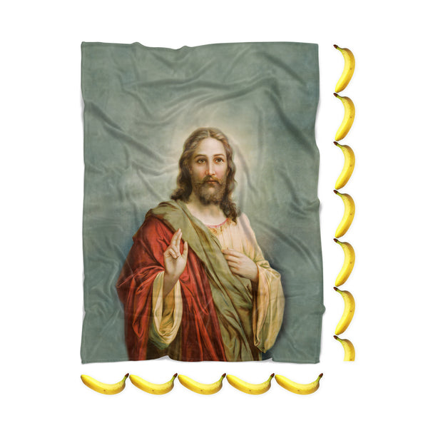 Holy Jesus Blanket-Gooten-| All-Over-Print Everywhere - Designed to Make You Smile