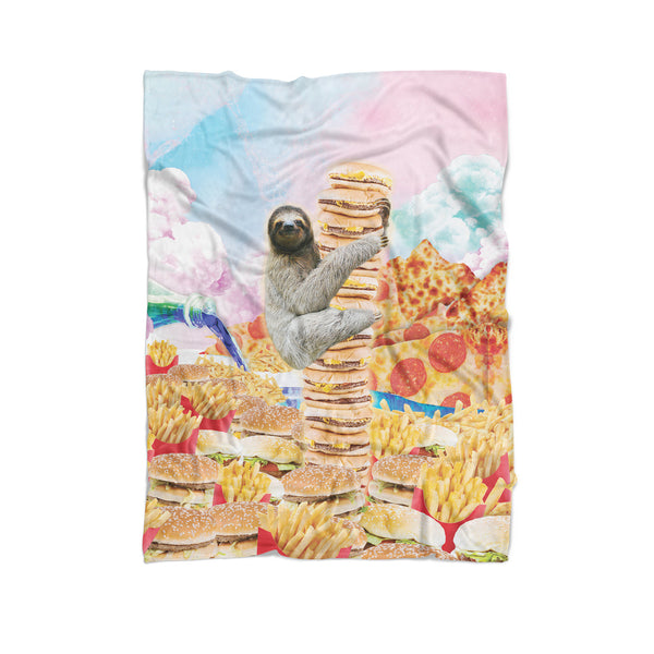 Junkfood Paradise Sloth Blanket-Gooten-Cuddle-| All-Over-Print Everywhere - Designed to Make You Smile