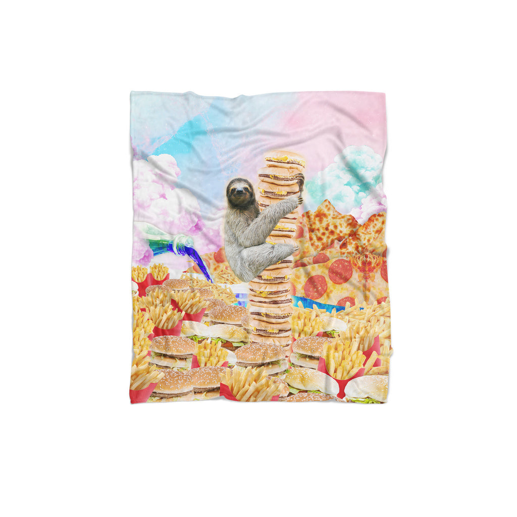 Junkfood Paradise Sloth Blanket-Gooten-Regular-| All-Over-Print Everywhere - Designed to Make You Smile