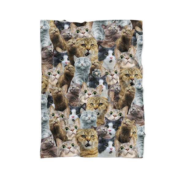 Scaredy Cat Invasion Blanket-Gooten-Cuddle-| All-Over-Print Everywhere - Designed to Make You Smile
