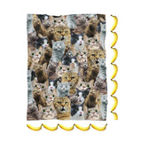 Scaredy Cat Invasion Blanket-Gooten-| All-Over-Print Everywhere - Designed to Make You Smile