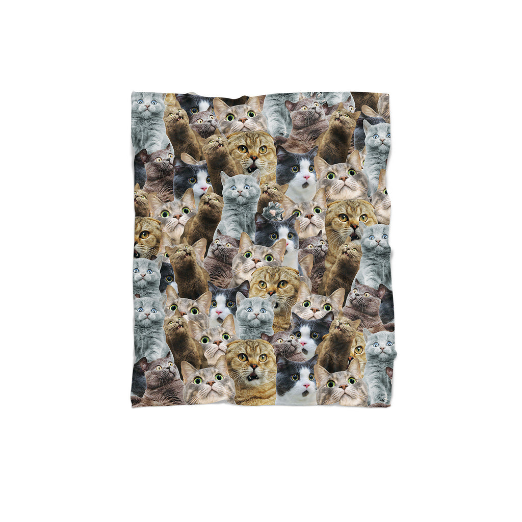 Scaredy Cat Invasion Blanket-Gooten-Regular-| All-Over-Print Everywhere - Designed to Make You Smile