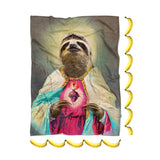 Sloth Jesus Blanket-Gooten-| All-Over-Print Everywhere - Designed to Make You Smile