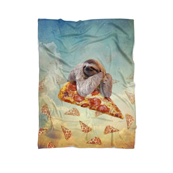 Sloth Pizza Blanket-Gooten-Cuddle-| All-Over-Print Everywhere - Designed to Make You Smile