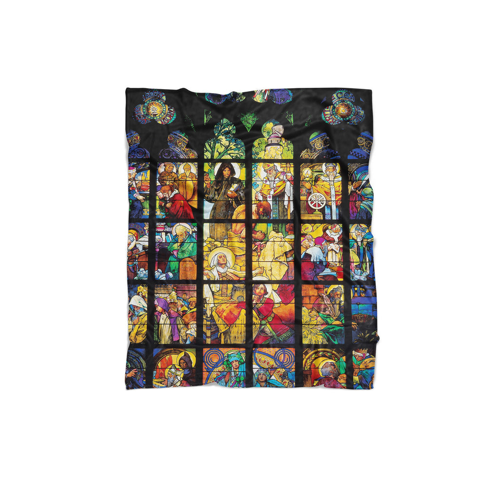 Stained Glass Blanket-Gooten-Regular-| All-Over-Print Everywhere - Designed to Make You Smile