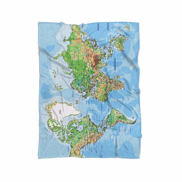 World Map Blanket   Shelfies