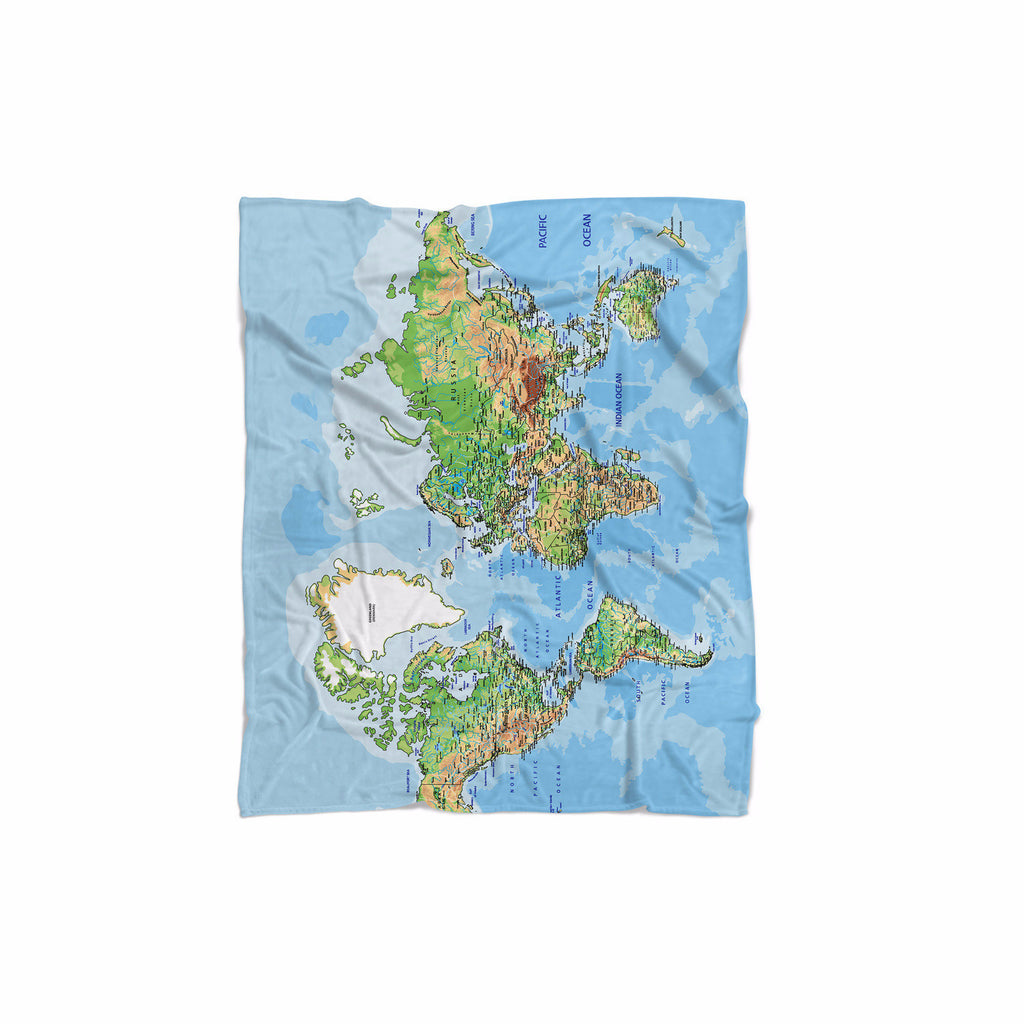 World Map Blanket Shelfies - World map blanket