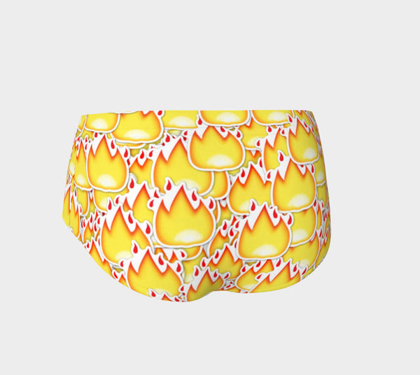 Fire Emoji Booty Shorts-Shelfies-| All-Over-Print Everywhere - Designed to Make You Smile