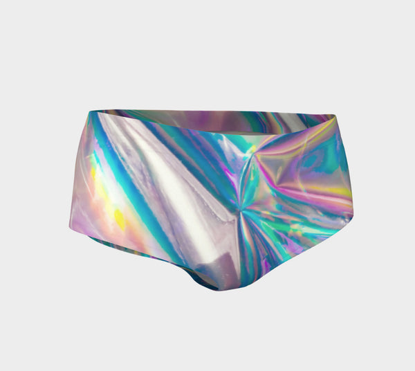 Holographic Foil Booty Shorts-Shelfies-| All-Over-Print Everywhere - Designed to Make You Smile