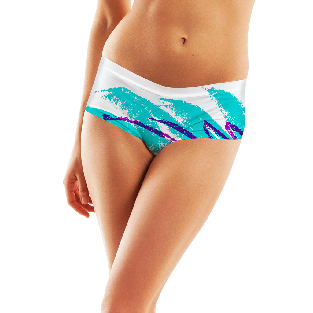 Jazz Wave Booty Shorts-Shelfies-| All-Over-Print Everywhere - Designed to Make You Smile