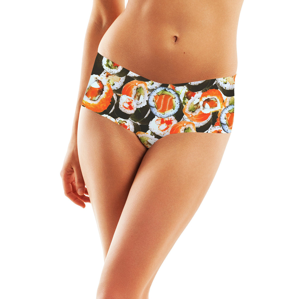 Sushi Invasion Booty Shorts-Shelfies-| All-Over-Print Everywhere - Designed to Make You Smile
