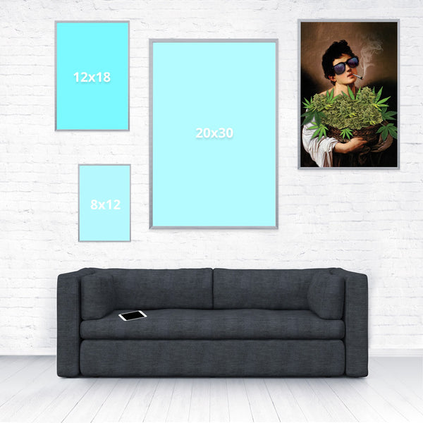 Boy With Basket of Weed Poster-Shelfies-16 x 24-| All-Over-Print Everywhere - Designed to Make You Smile