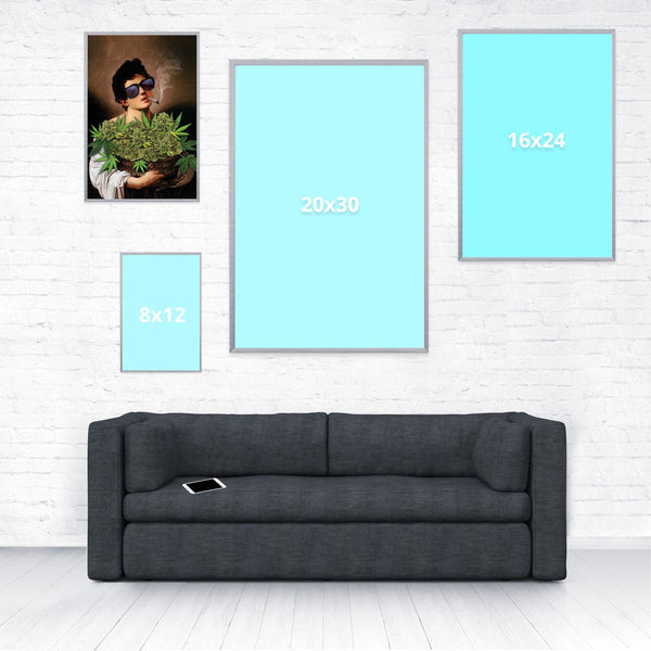 Boy With Basket of Weed Poster-Shelfies-12 x 18-| All-Over-Print Everywhere - Designed to Make You Smile