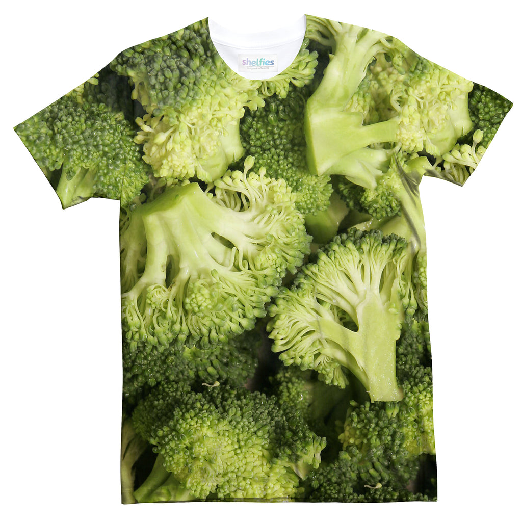 Broccoli Invasion T-Shirt-Subliminator-| All-Over-Print Everywhere - Designed to Make You Smile